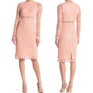 Love by Design NEW Lace Long Sleeve Sheath Dress